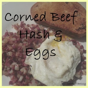 Corned Beef Hash and Eggs Button